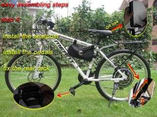 COMMUTER ELECTRIC BICYCLE! 48V 1000W Motorized Power Bike+ 10Ah Li ion