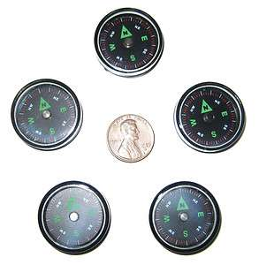 Small 27mm pocket survival air filled button compass