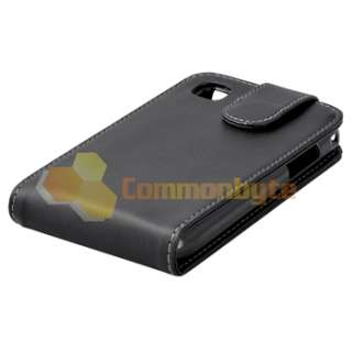 Leather Flip Case Skin w/ Holder+3 LCD Protector for Samsung Galaxy