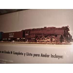 4 8 4 Northern Steam Locomotive w/ Operating Headlight and