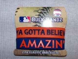 New York Mets Logo Bracelet Bulk Bandz 2PK Wristbands