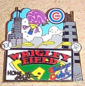 Charles Fazzino Chicago Cubs Wrigley Field Pin