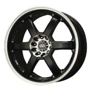 16x7 Enkei PKR (Matte Black w/ Machined Lip) Wheels/Rims 5x100/114.3