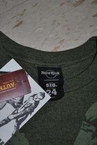 NWT Hard Rock Cafe T Shirt Green Day Honolulu Medium