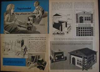 Prefab House & Lumber Truck Wooden Toy 1945 How To build PLANS