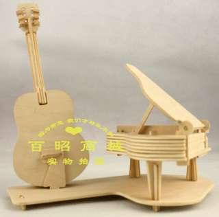 3D Wooden Puzzle Guitar & Piano model kit