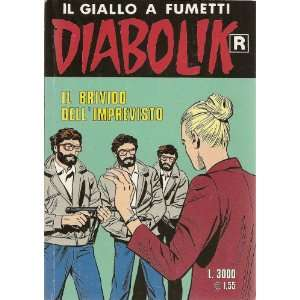 Italian language illustrated paperback crime story in comic book style