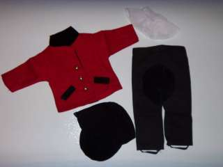 DOLL CLOTHES FITS AMERICAN GIRL 18 RED BLACK HORSE RIDING OUTFIT 4 PC