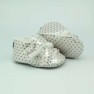 US New Toddler Infant Baby Girls Soft Sole Polka Dot Mary Jane Shoes 6