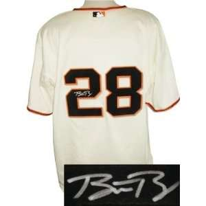 Buster Posey signed San Francisco Giants Authentic Majestic Cream