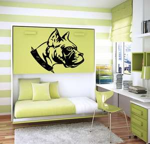 DOG BOXER ANIMAL CUTE DESIGN WALL VINYL STICKER DECALS ART MURAL M4