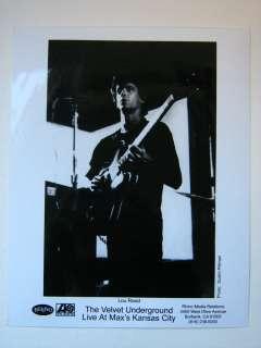 Velvet Underground Lou Reed Publicity Photograph 8x10 Maxs Kansas