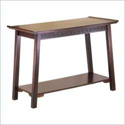 Winsome Chinois Solid Wood Walnut Console Table 021713947413