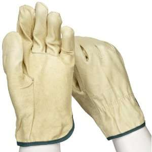 West Chester 994 Leather Glove, Shirred Elastic Wrist Cuff, 9.75