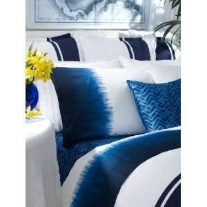 Ralph Lauren Indigo Modern Tye Dye Border Queen Flat Sheet: