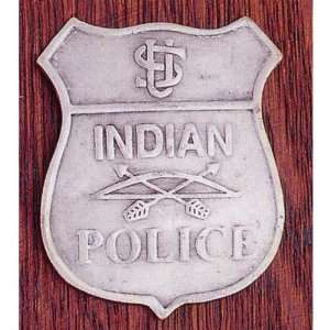 Tribal Police Novelty Obsolete Badge Shield with Bow and Arrow Center