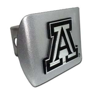 University of Arizona Brushed Silver Trailer Hitch Cover