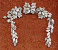VINTAGE HASKELL Wire Beaded Flowers Jewelry Trims Swag