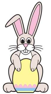 HOLIDAY BUNNY LIFESIZE CARDBOARD STANDUP STANDEE CUTOUT PARTY PROP 669