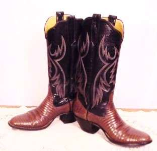 OF MERCEDES Tall LIZARD Cowboy Boots   Woman 7.5C /Men 6C Hand Made