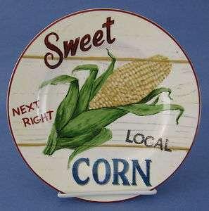 Home Trends Farm Fresh Salad Plate Sweet Corn Ear Cob Roadside Stand