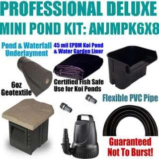10x12 Deluxe Mini Pond Kit ANJMPK6x8 for Wholesale Pond Supply