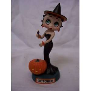 Danbury Mint Betty Boop Calendar Figure, October