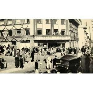 1939 Print Street Scene Car Kaupfelag Eyfirdinga Akureyri Costume