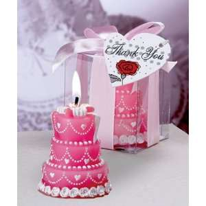 Wedding Cake Candles   Pink (Set of 60)   Wedding Party Favors