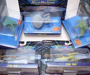1990s Star Trek Micro Machines Ship Lot Of 5 Space U.S.S. Enterprise