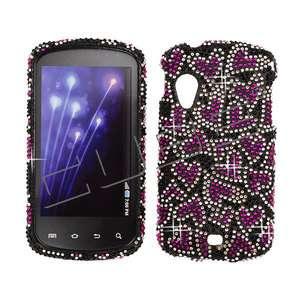 For Samsung Stratosphere i405 Diamond Bling Case Cover  Reddish Pink