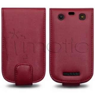 Funda Cuero Piel ROJA Blackberry Curve 9360 y 9350 color ROJO