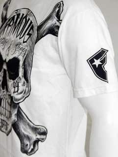 Famous Stars & Straps (FMS) INKED TATTOO SKULL T Shirt   White