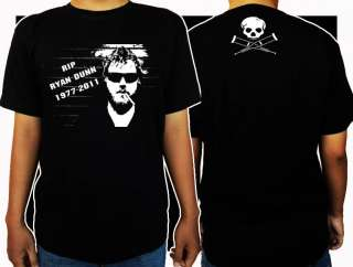 New Ryan Dunn RIP Jackass Memorial Black T shirt Tee