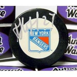 Alexei Kovalev Autographed New York Rangers Hockey Puck