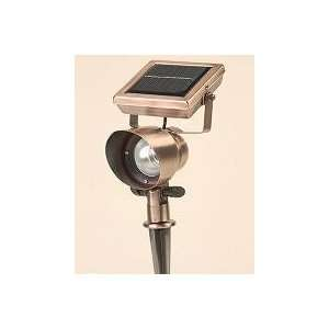 Single Solar Spot Light (Pewter Finish) Patio, Lawn