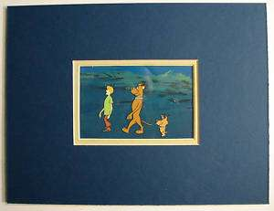 SCOOBY DOO ANIMATION CEL & BACKGROUND HANNA BARBERA