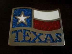 TEXAS STATE FLAG Belt BUCKLE Large Heavy INLAY PSS West WESTERN Cowboy