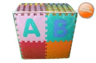 80 SqFt ABC 123 Foam Kids Baby Childrens Puzzle Play Interlocking