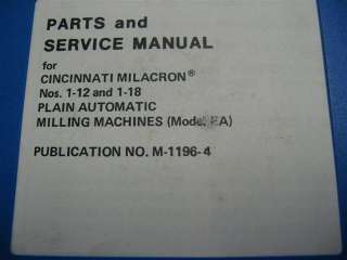 Cincinnati Horizontal Milling Machine (Model EA) NR