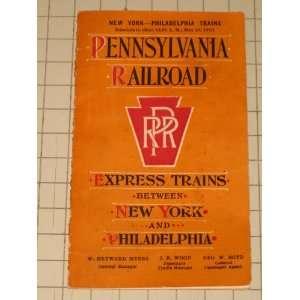 Pennsylvania Railroad Express Trains Between New York & Philadelphia