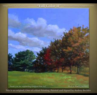 Field Trees Fall Color II Landscape Painting Bechler