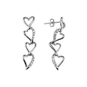 Silverflake  Amadora Connect the Hearts CZ Earrings