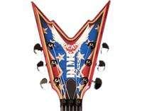 Darrell Dixie Rebel Flag Pantera Guitar w/ OHSC + AZ MUSIC wty VGC