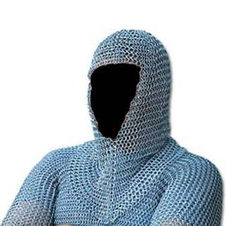 16 gauge Steel Chain Mail Shirt & Hood. Fully Functional