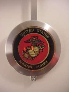 USMC MARINE CORPS 7 ROUND PENDULUM WALL N S GEORGE NELSON RETRO CLOCK