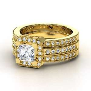 Va Voom Ring, Princess Diamond 18K Yellow Gold Ring