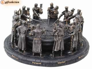 MEDIEVAL KNIGHT CRUSADER WARRIOR ROUND TABLE DECOR *NEW