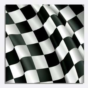 BLACK AND WHITE CHECKERED FLAG Vinyl Decals 3 Sheets 12x12