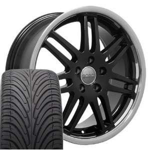 18 Fits Audi   RS4 Style Deep Dish wheels tires   Black